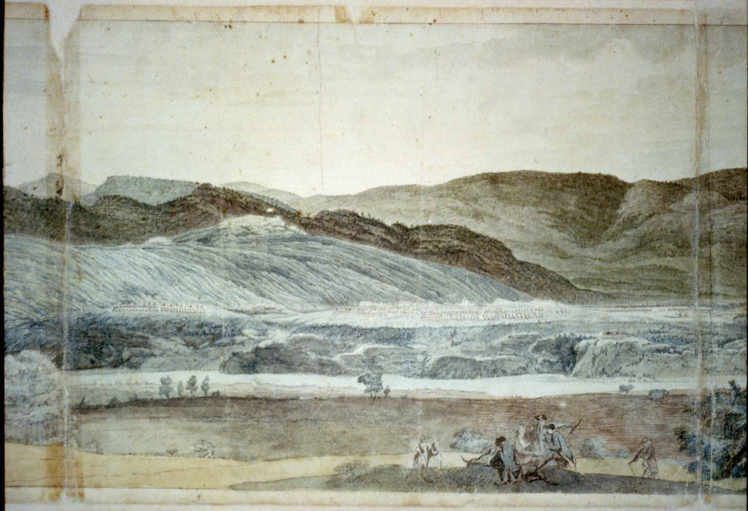 A panoramic view of West Point, New York showing...