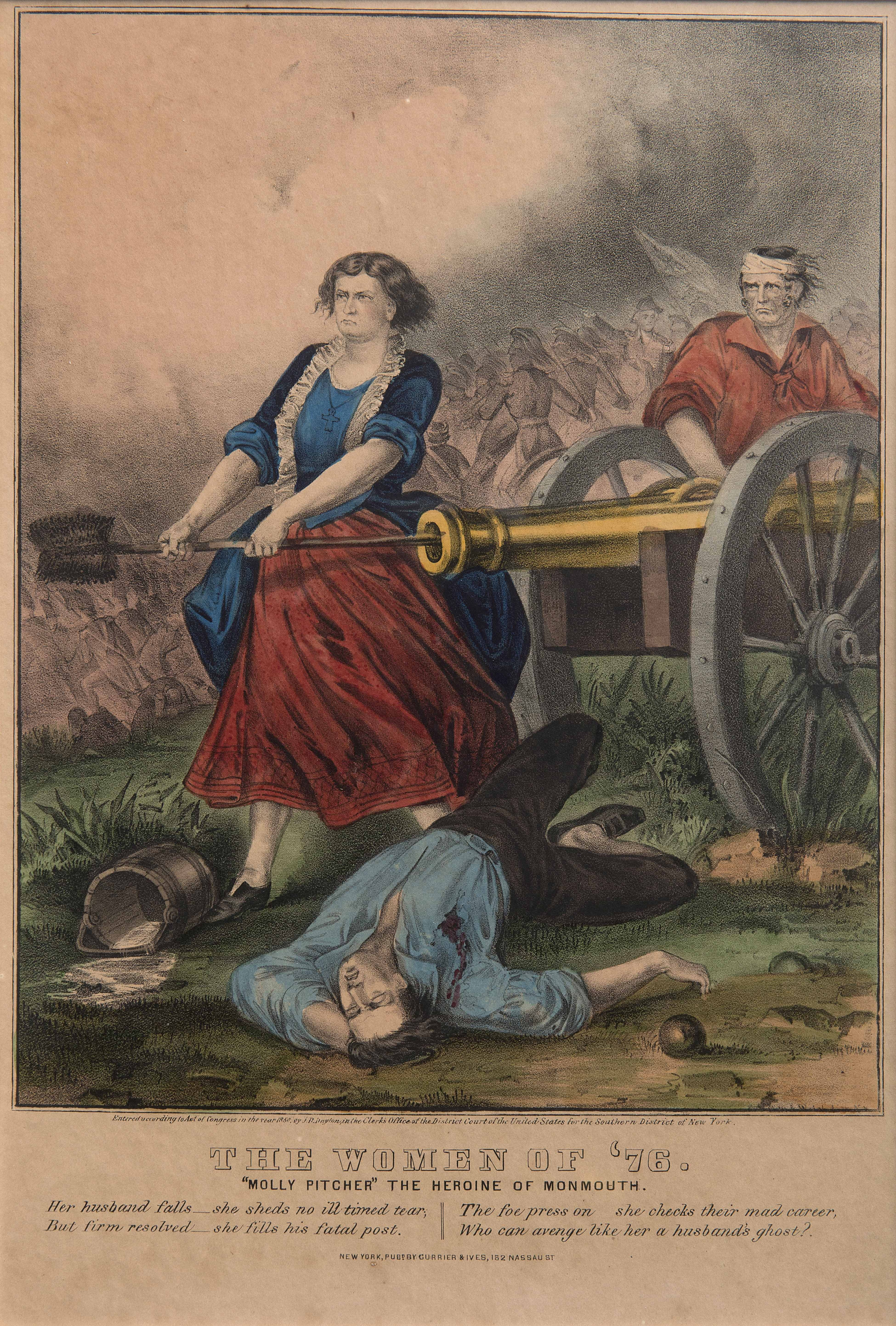 Painting of The Heroine of Monmouth (Molly Pitcher, 1876)