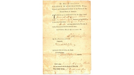 Image 092320 16x9 Continental Army Discharge Collection 1783 Militarydischarge
