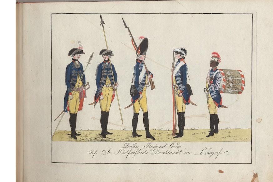 Drittes Regiment Garde Engraving
