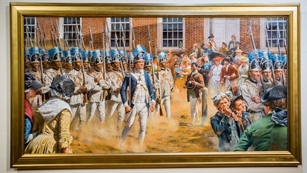 Brave Men as Ever Fought painting unveiling
