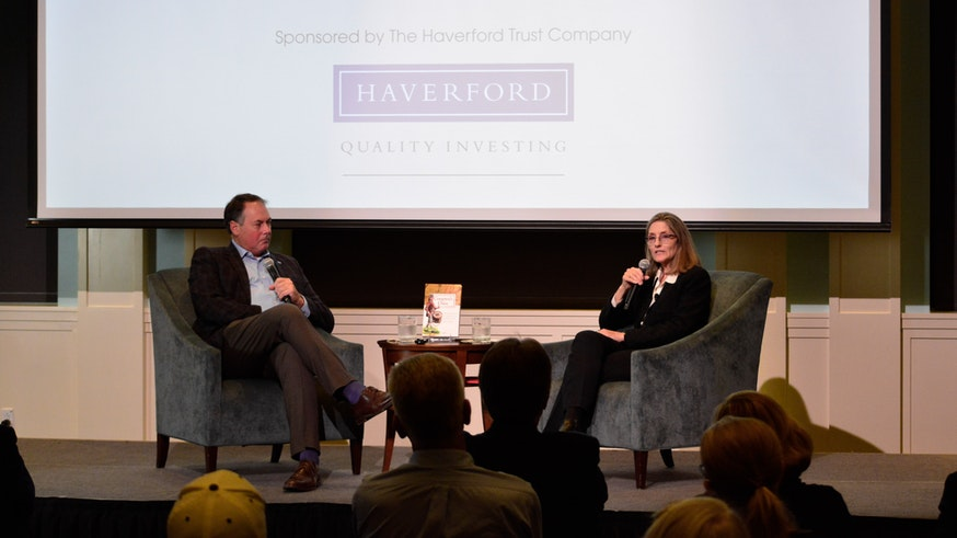 Dr. R. Scott Stephenson asks Dr. Holly A. Mayer questions following her Read the Revolution Speaker Series lecture in September 2021.