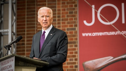 Joe Biden at the Museum's Grand Opening Ceremony