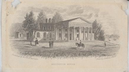 Arlington House circa 1868 via Library Of Congress