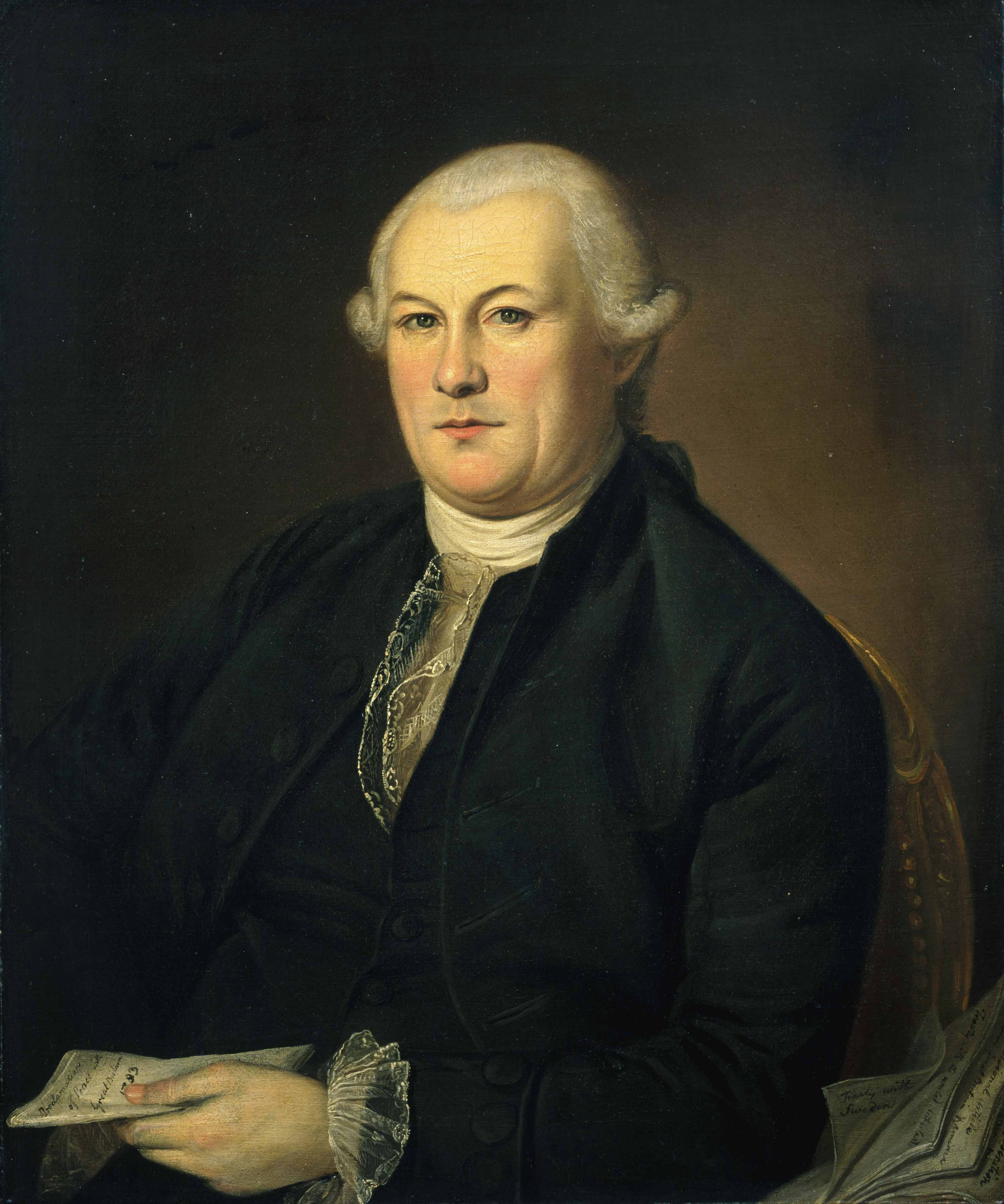 Portrait of Elias Boudinot by Charles Willson Peale.