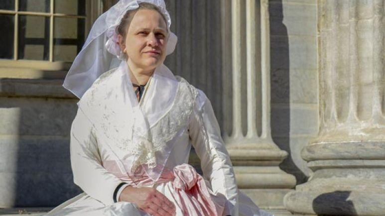 Recreated 1787 Eliza Hamilton Gown
