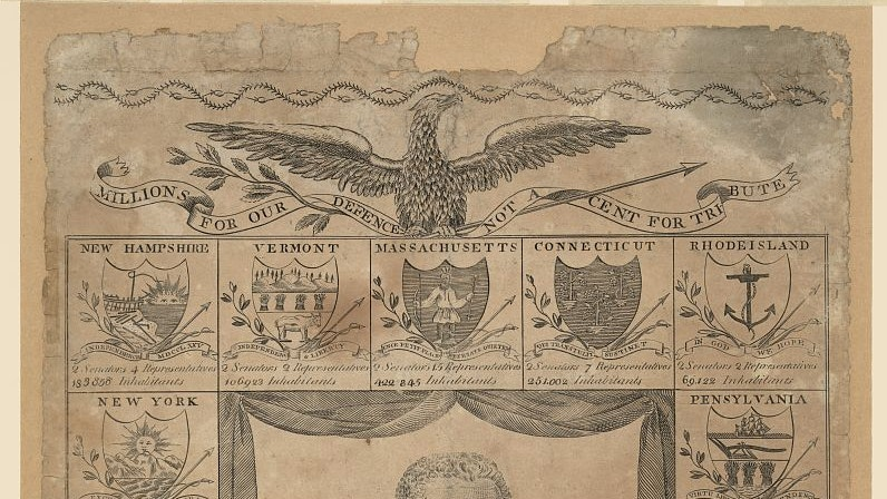 Printed page: A New Display of the United States