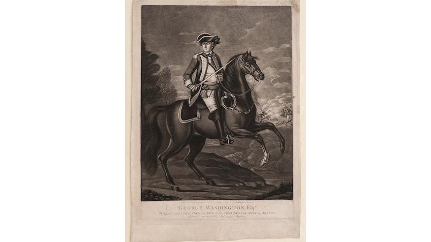 Image 092320 16x9 George Washington Print Mezzotint Collection George Washington On Horseback