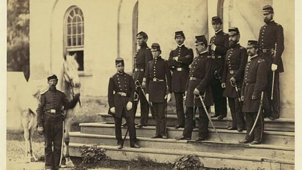 General Irvin McDowell and staff, Arlington House