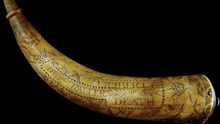 Image 091120 William Waller Powder Horn Collection 1775 Wallerpowderhorn