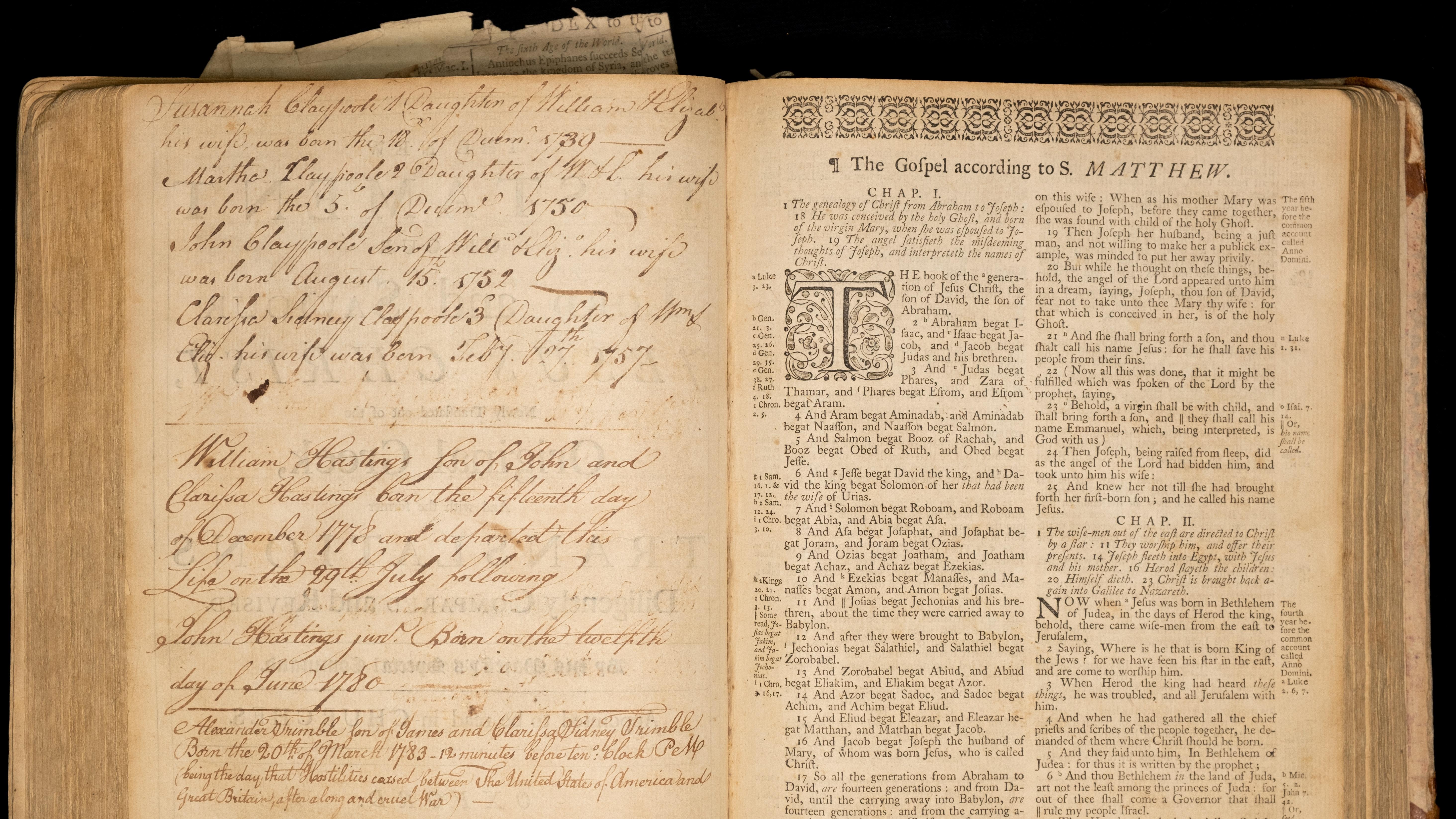 Page In Claypoole Bible Photo Credit David Edge