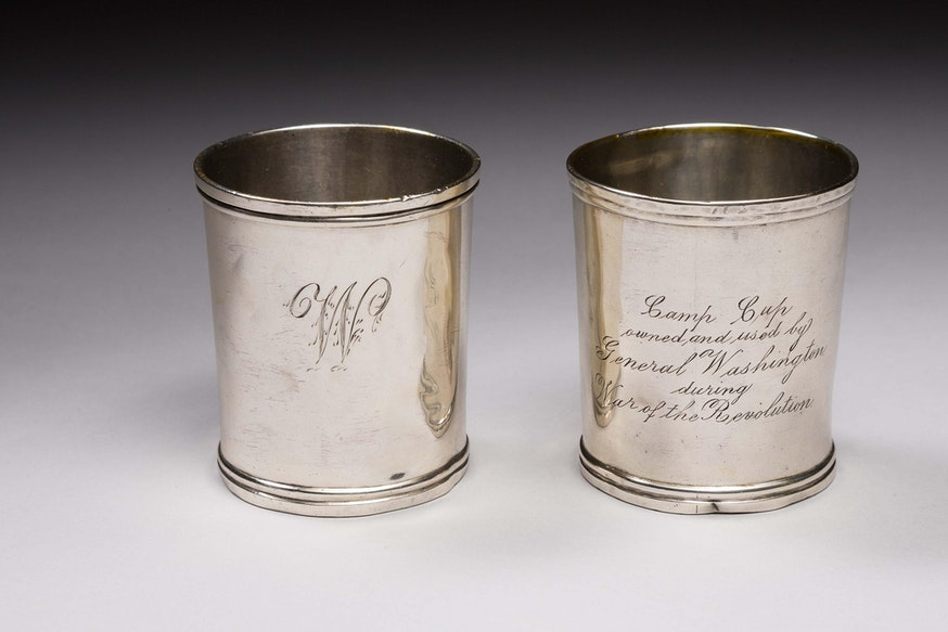 Image 091120 George Washington Camp Cups Silver Camp Cups