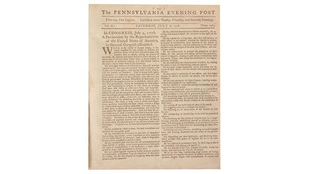 Image 092320 16x9 First Newspaper Printing Declaration Independence Collection Firstnewspaperprinting