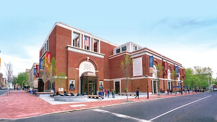 An image of the exterior of the Museum of the American Revolution building