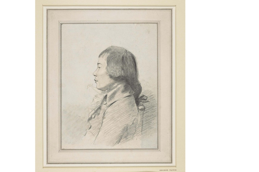 George Dance Drawing of an 18th-Century Chinese Man