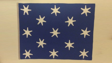 Image 120320 Collections Astronaut John Glenns Revolutionary War Flag