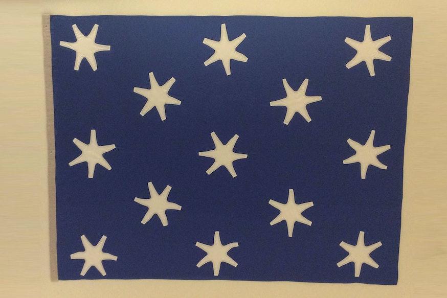 Image 120320 Collections Astronaut John Glenns Revolutionary War Flag