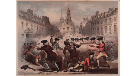 """Boston Massacre, March 5th, 1770"" by John H. Bufford"