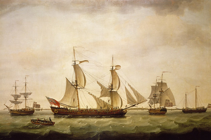 American Sailing Vessel 1778 Courtesy National Maritime Museum Royal Museums