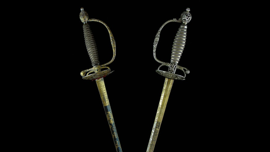 Image 091120 British French Swords Collection British And French Swords 1 Copy