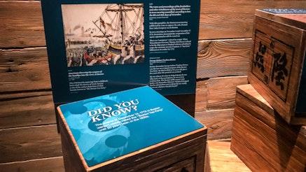 Replica wooden tea chests