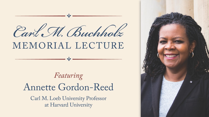 Image 111020 Buchholz Lecture 1920x1080 Annette Gordon Reed
