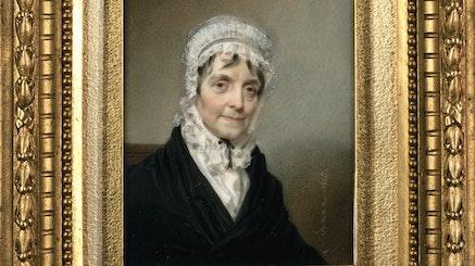 Mrs. Alexander Hamilton by Henry Inman, c1825, New-York Historical Society.