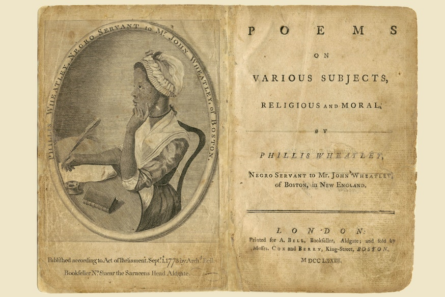Image 091120 Phillis Wheatley Poems Book Collection Phillis Wheatley Poems