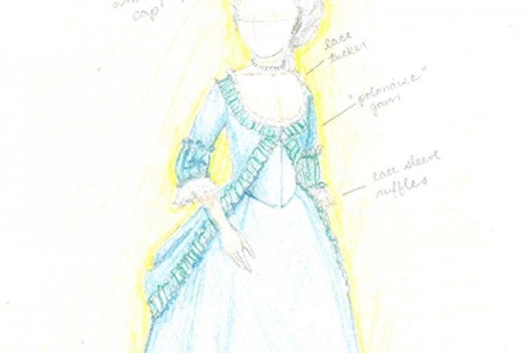 1777 Eliza Hamilton Gown