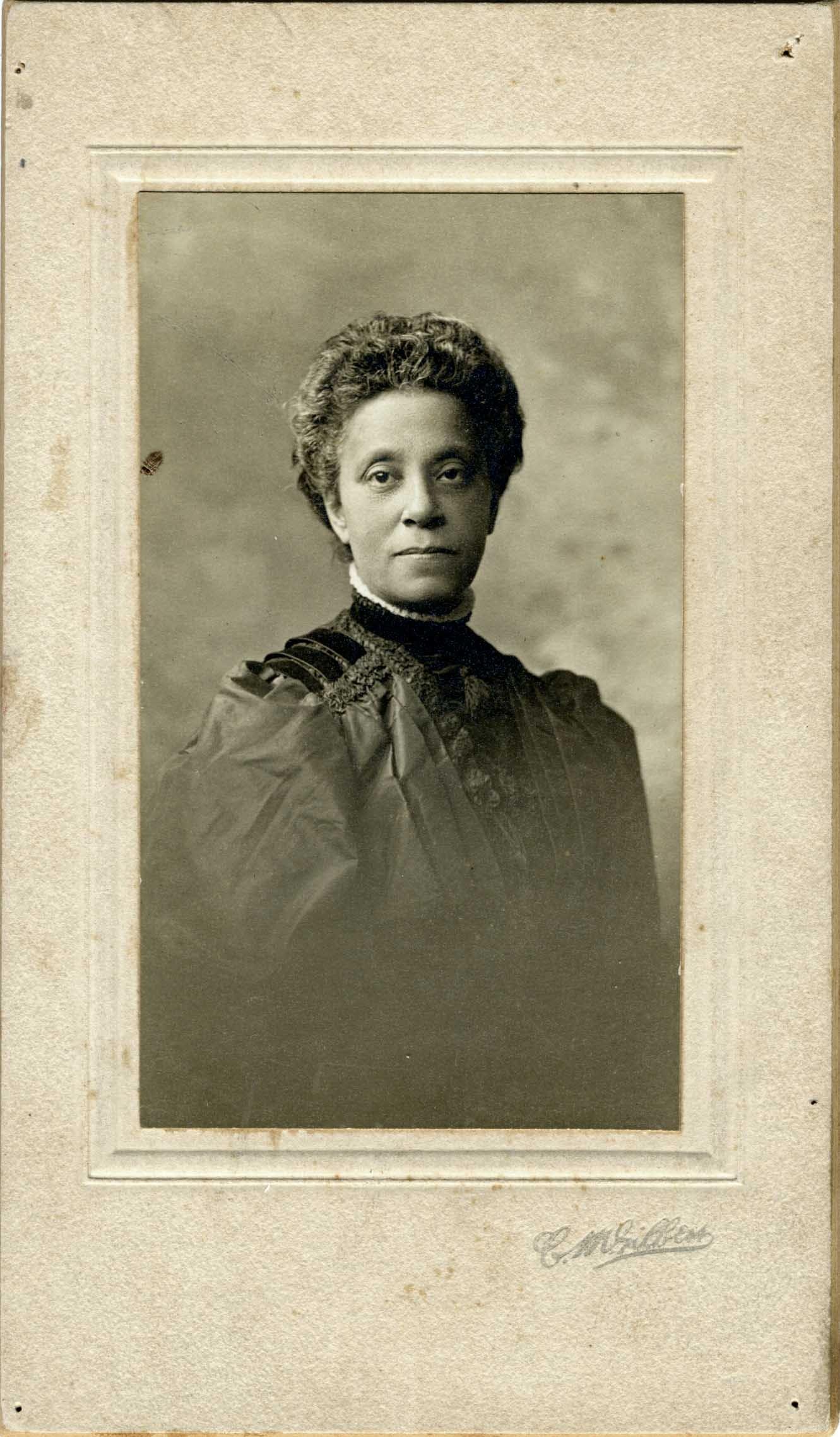 Photo of Gertrude Bustill Mossell.