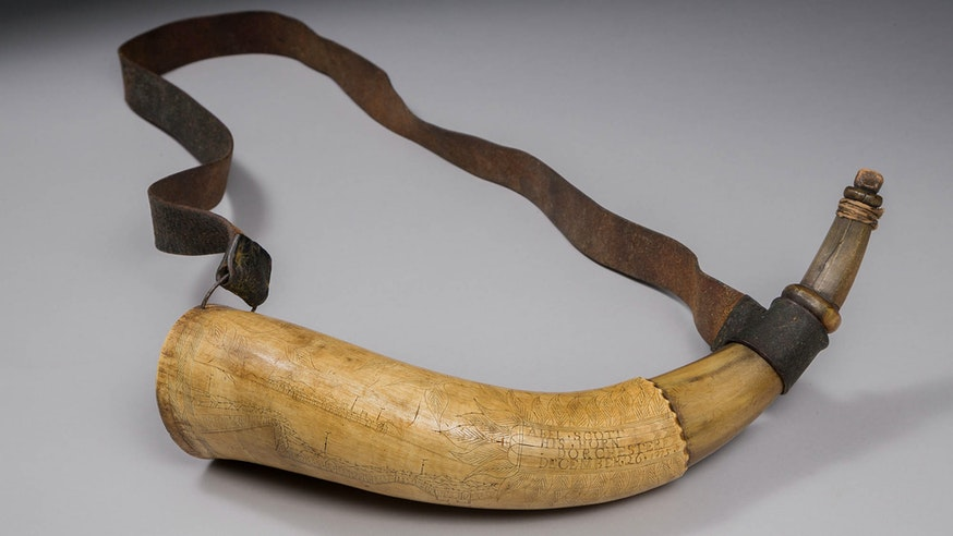 Abel Scott's Powder Horn