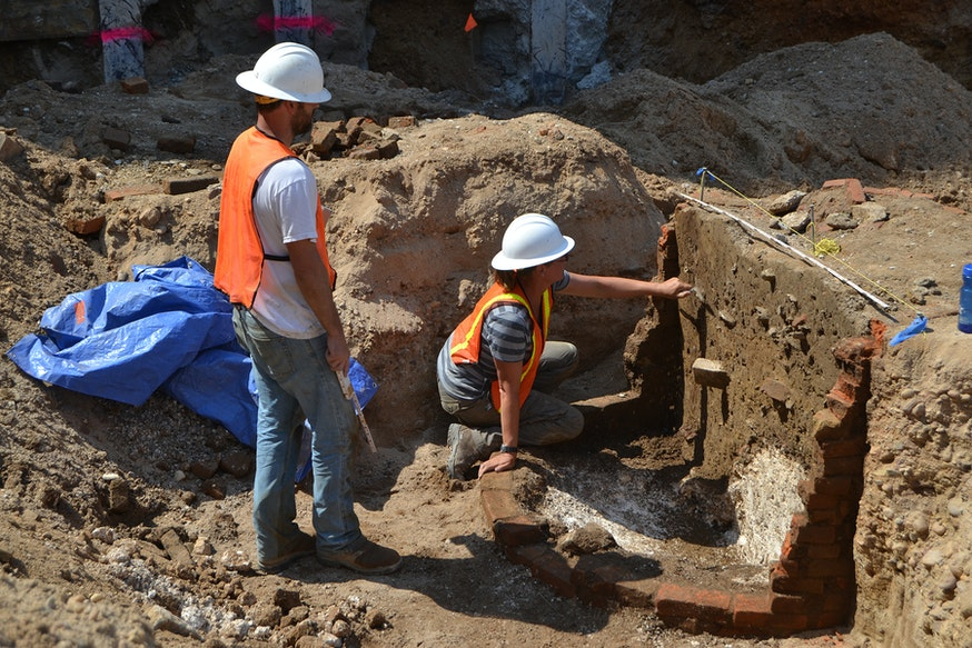 Archaeological dig at the Museum