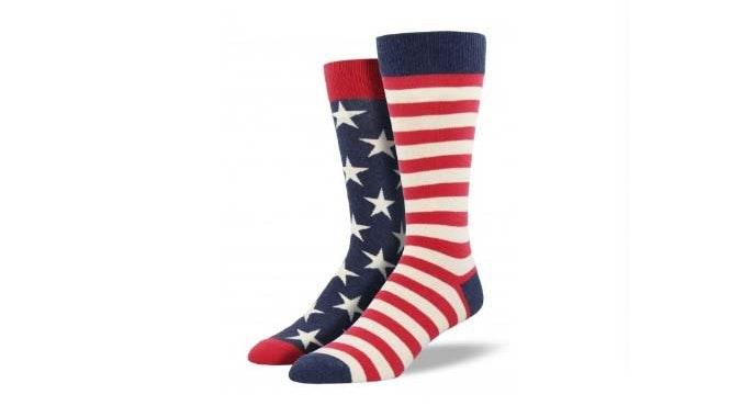 Shop Mens American Flag Socks
