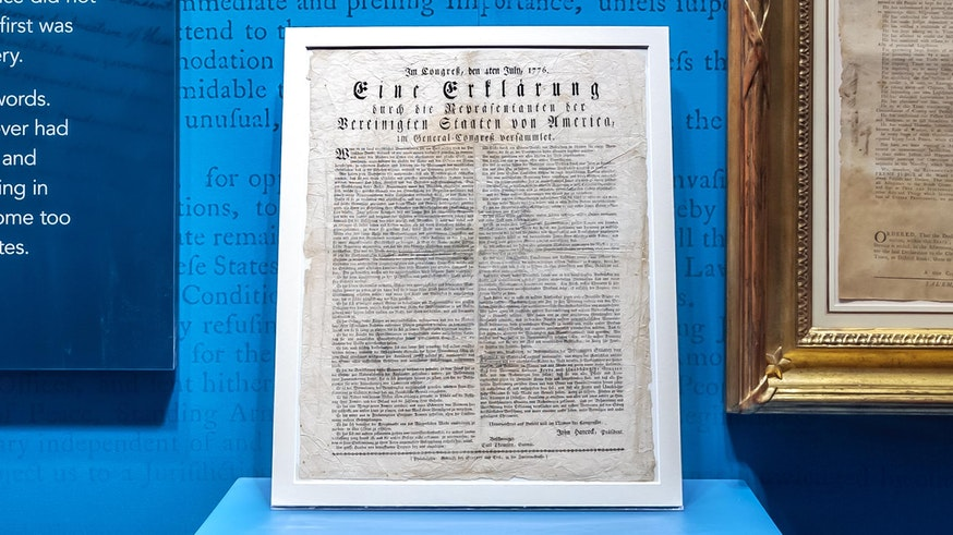 German Language Printing of the Declaration of Independence